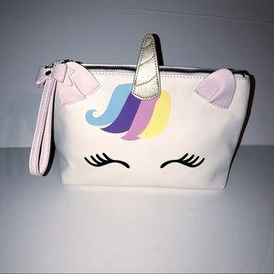 Betsey Johnson unicorn cosmetic bag NWOT
